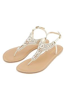 066556cceb30ec Accessorize Athens Embellished Sandal - Metallic