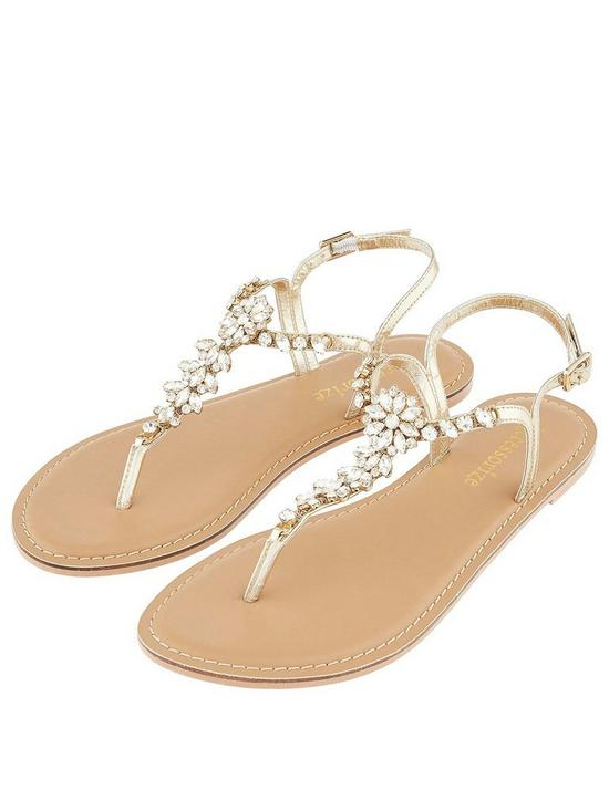8f302f8a3d60 Accessorize Rio Embellished Sandal - Gold