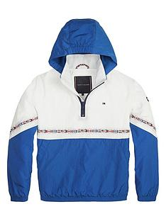 1a6affd87 Tommy Hilfiger Boys Colourblock Flag Pop Over Jacket