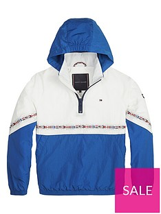 341a832360 Tommy Hilfiger Boys Colourblock Flag Pop Over Jacket