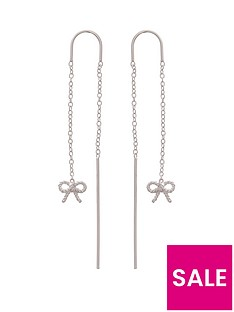 olivia-burton-olivia-burton-silver-plated-vintage-bow-chain-drop-earrings