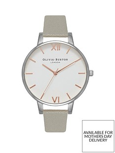 olivia-burton-olivia-burton-white-with-rose-gold-and-silver-detail-big-dial-grey-leather-strap-ladies-watch