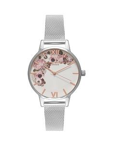 olivia-burton-olivia-burton-enchanted-garden-white-with-silver-and-rose-gold-detail-floral-midi-dial-stainless-steel-mesh-strap-ladies-watch