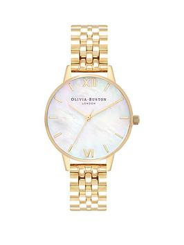 olivia-burton-olivia-burton-mother-of-pearl-and-gold-detail-midi-dial-gold-stainless-steel-bracelet-ladies-watch