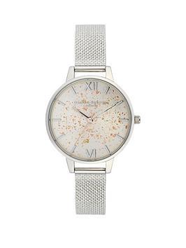 olivia-burton-olivia-burton-celestial-silver-sunray-and-glitter-demi-dial-stainless-steel-boucle-mesh-strap-ladies-watch