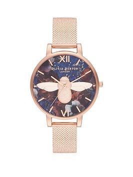 olivia-burton-olivia-burton-lapi-lazuli-and-rose-gold-3d-bee-big-dial-rose-gold-stainless-steel-boucle-mesh-strap-ladies-watch