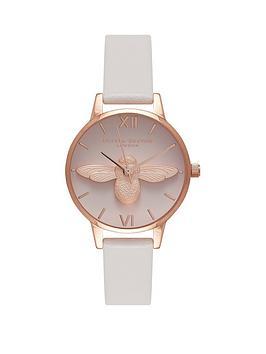 olivia-burton-olivia-burton-white-and-rose-gold-3d-bee-midi-dial-white-leather-strap-ladies-watch