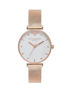 olivia-burton-olivia-burton-white-and-rose-gold-3d-mini-bee-midi-dial-rose-gold-stainless-steel-mesh-strap-ladies-watch
