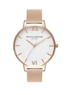 olivia-burton-olivia-burton-white-and-rose-gold-big-dial-rose-gold-stainless-steel-mesh-strap-ladies-watch