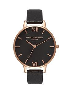 olivia-burton-olivia-burton-black-and-rose-gold-big-dial-black-leather-strap-ladies-watch
