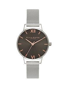 olivia-burton-olivia-burton-grey-midi-dial-stainless-steel-mesh-strap-ladies-watch