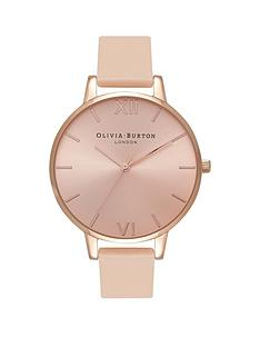 olivia-burton-olivia-burton-pink-and-rose-gold-detail-sunray-big-dial-peach-leather-strap-ladies-watch