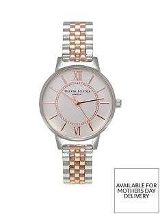 olivia-burton-olivia-burton-wonderland-silver-and-rose-gold-detail-midi-dial-two-tone-stainless-steel-bracelet-ladies-watch