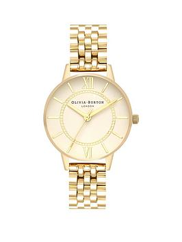 olivia-burton-olivia-burton-wonderland-white-and-gold-detail-midi-dial-gold-stainless-steel-bracelet-ladies-watch