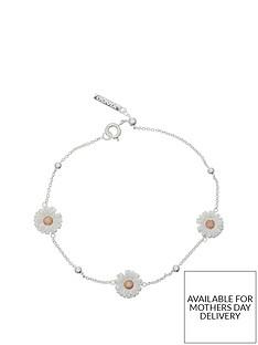 olivia-burton-olivia-burton-silver-and-18k-rose-gold-plated-3d-daisy-and-ball-chain-bracelet