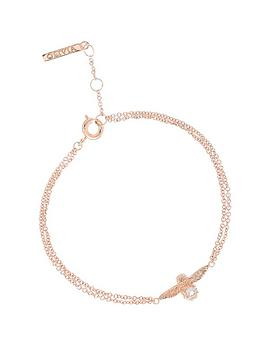 olivia-burton-olivia-burton-18k-rose-gold-plated-and-rose-quartz-bejewelled-3d-bee-double-chain-bracelet