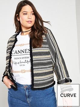 v-by-very-curve-jacquard-fringe-detail-jacket-multi