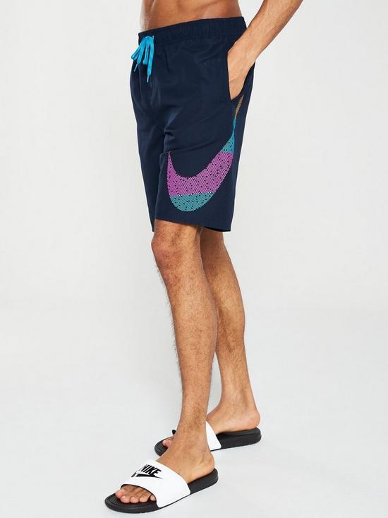 8235004915 Nike Swim Mash Up Breaker 9 Inch Swim Shorts - Obsidian | very.co.uk