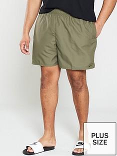 812980a787 Nike Swim Plus Size Solid Lap 5 Inch Swim Shorts - Olive