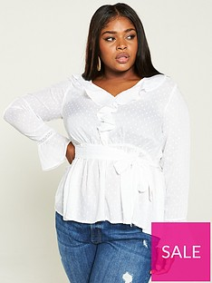 v-by-very-curve-dobbynbsplace-trim-ruffle-blouse-ivory