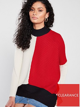 river-island-colour-block-jumper-red