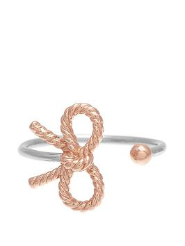 olivia-burton-silver-and-18k-rose-gold-vintage-bow-ring