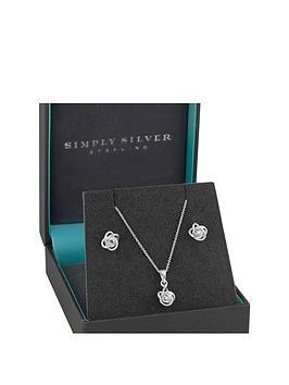 jon-richard-sterling-silver-cubic-zirconia-knot-earring-pendant-set