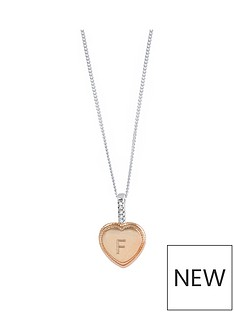 the-love-silver-collection-personalised-rose-gold-plated-sterling-silver-cubic-zirconia-heart-pendant-necklace