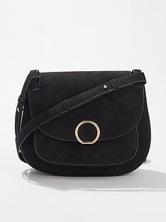 685564b8090b7 Miss Selfridge Micro Saddle Bag - Black