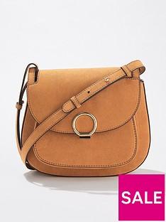 miss-selfridge-micro-saddle-bag-tan