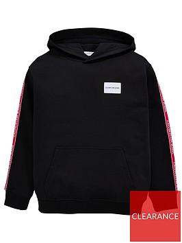 calvin-klein-jeans-girls-taped-oversized-hoodie-black
