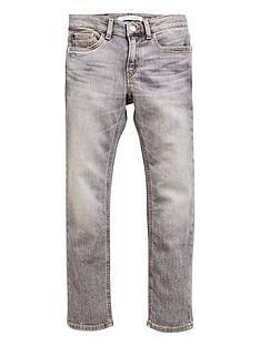 0c90a674eb4a Calvin Klein Jeans Boys Slim Comfort Jeans - Grey