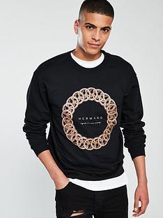 hermano-ringed-crew-neck-sweatshirt