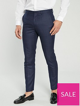 v-by-very-regular-fit-check-suit-trouser-navy