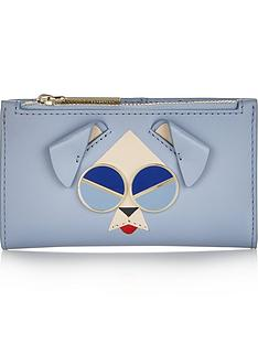 kate-spade-new-york-spademals-mod-dog-small-slim-bifold-purse-blue