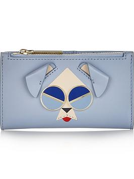 kate-spade-new-york-spademals-mod-dog-small-slim-bifold-purse-blue