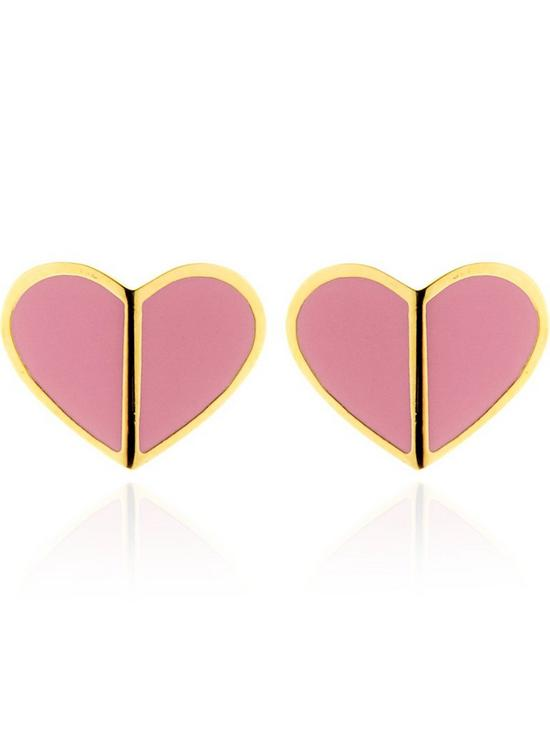 ff06551dc94d7 Heritage Small Heart Stud Earrings - Pink
