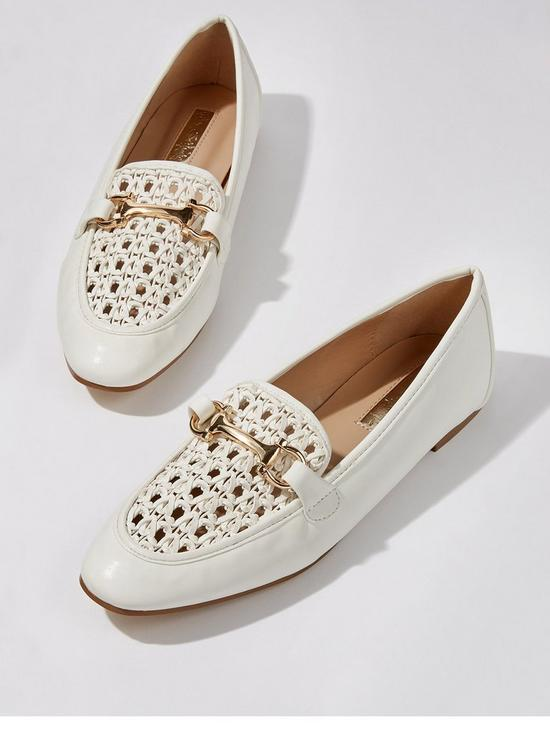 2b9c3d3e7f723 Woven Loafer - White