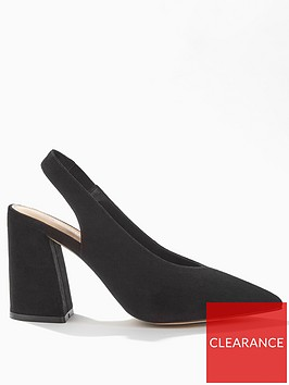 miss-selfridge-high-vamp-slingback-high-block-heel-black