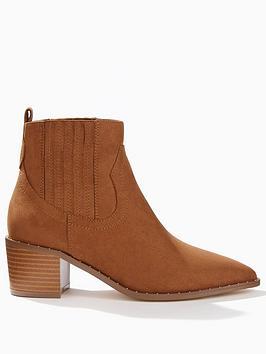 miss-selfridge-western-studded-loop-ankles-boots-brown