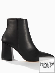 miss-selfridge-block-heel-pointed-boot-black