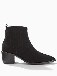miss-selfridge-western-studded-loop-ankles-boots-black