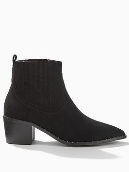 miss-selfridge-western-studded-loop-ankles-boots-black
