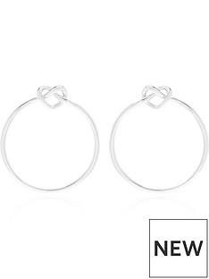 kate-spade-new-york-loves-me-knot-hoop-earrings-silver