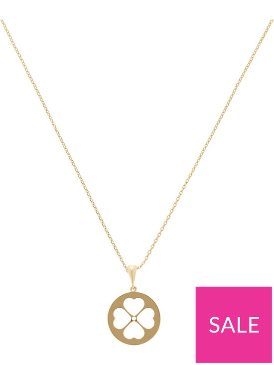 a607621106f195 Kate Spade New York Spade Floral Mini Pendant Necklace - Gold | very ...