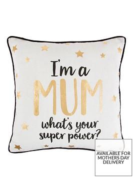 sass-belle-sass-and-belle-metallic-monochrome-im-a-mum-cushion
