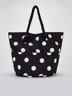 2ccaab2d80d Michelle Keegan Jessica Oversized Beach Bag - Black