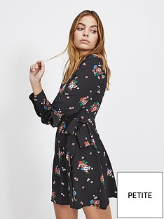 miss-selfridge-petite-printed-shirt-dress-floral