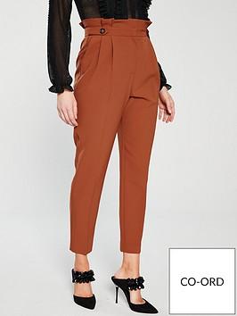 miss-selfridge-paperbag-trouser-rust