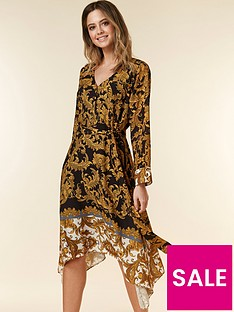 wallis-petite-baroque-dress-multi